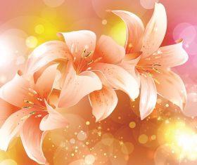 Angels trumpet flower background vector