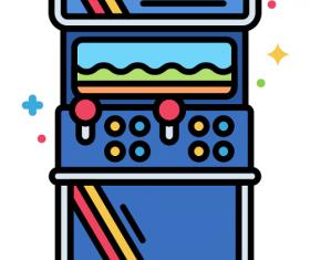 Arcade Cabinet Icon Vector