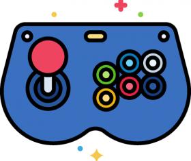 Arcade Controller Icon Vector