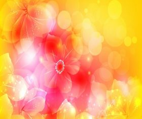 Artistic Flower Vector Illustration Background Vector