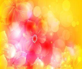 Artistic Flower Vector Illustration Background Vector