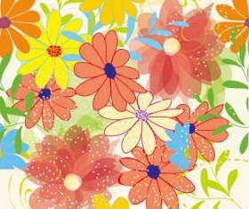 Big Flower Seamless Pattern Background Graphic Vector
