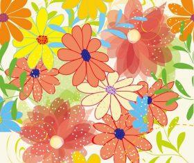 Big Flower Seamless Pattern Background Graphic Vector