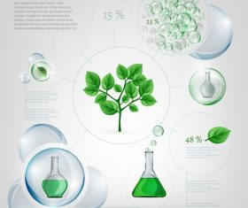 Bio Eco Bubble Set Info graphics Vector