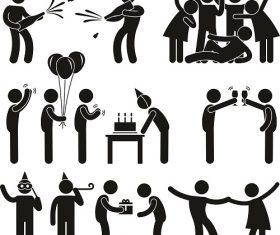 Birthday Party icon Vector