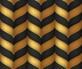 Black Gold Abstract Background Vector