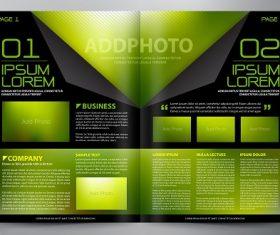 Black Green yellow gradient brochure template vector
