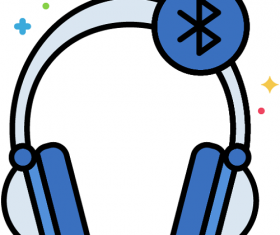 Bluetooth Headphones Icon Vector