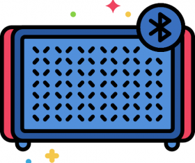Bluetooth Speaker Icon Vector