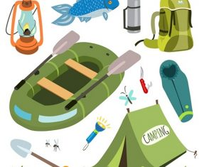 Boating and Camping Equipment Icon Vector