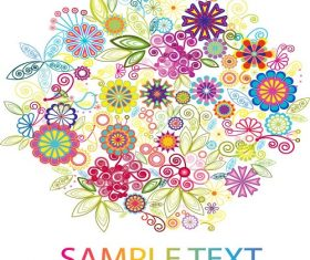 Bright  Color Flowers Vector Illustration Vector