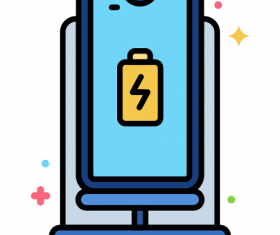 Charging Dock Icon Vector