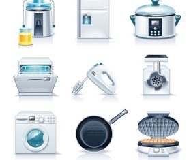 Cooking and Baking Household Appliances Vector