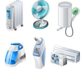 Cooling Icon Household Appliances Vector