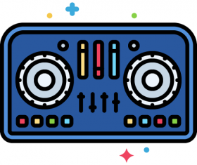 DJ Controller Icon Vector