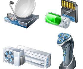 Electronic House Appliances Vector