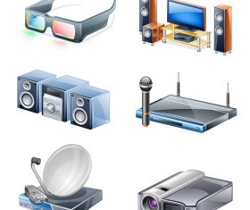 Entertainment Icon Household Appliances Vector
