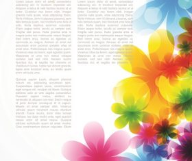 Floral design right side background vector