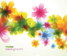 Flower Circles light background vector