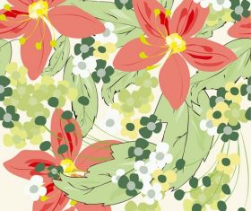 Flower Seamless Pattern Illustration Background Vector