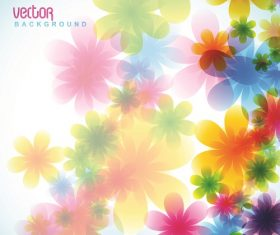 Flower light background vector