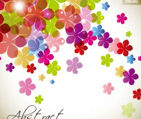 Flowers with different size background vector