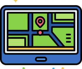 GPS Navigation Icon Vector