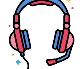 Gaming Headphones Icon Vector
