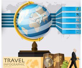 Globe  Travel Infographic Vectors