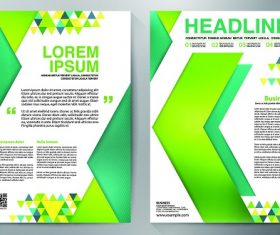 Green Yellow Arrow Brochure Vector