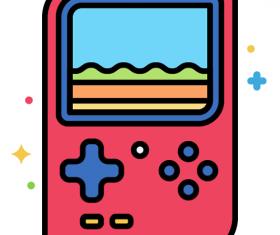 Handheld Console Icon Vector