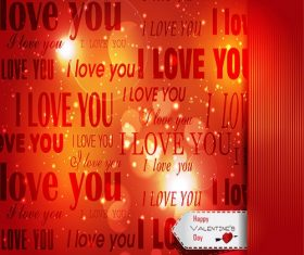 Happy Valentines Day Note Background Vector
