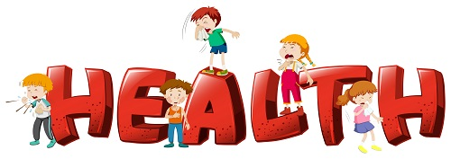 Health Kids Sneezing Vector