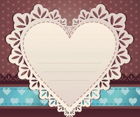 Heart With Design on the Side Background Vector