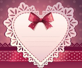 Heart with Ribbon Background Vector
