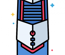 High tower Computer Case Icon Vector