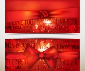 I Love You Gift Box with Ribbon Background Vector