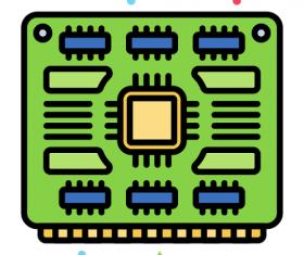 I-O Board Icon Vector