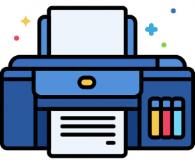 Inkjet Printer Icon Vector