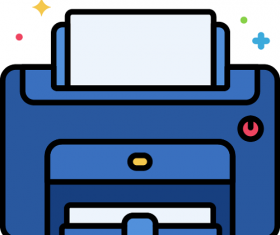Laser Printer Icon Vector