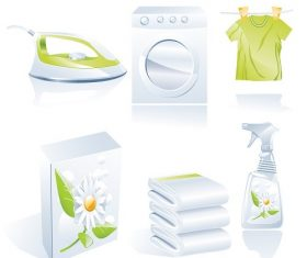 Laundry Household Appliances Vector
