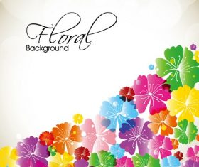 Lower Right Floral background vector