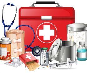Medical Diabetic Equipment Vector
