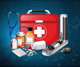 Medicine First Aid Equipment Vector