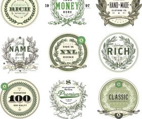 Money Badge Set Vector