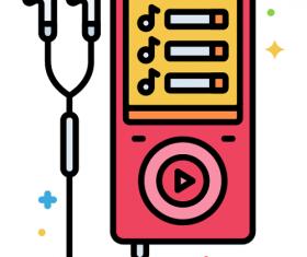 Mp3 Player Icon Vector