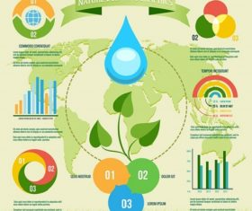 Nature Eco Friendly Infographic Vector