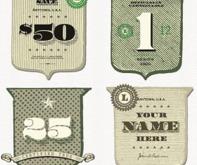 Old money badge frames Vector