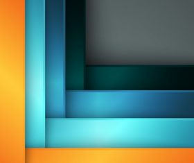 Orange Blue Sky Blue Blue Green Square Abstract Background Vector