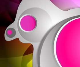Pink Light Gray Yellow Abstract Background Vector